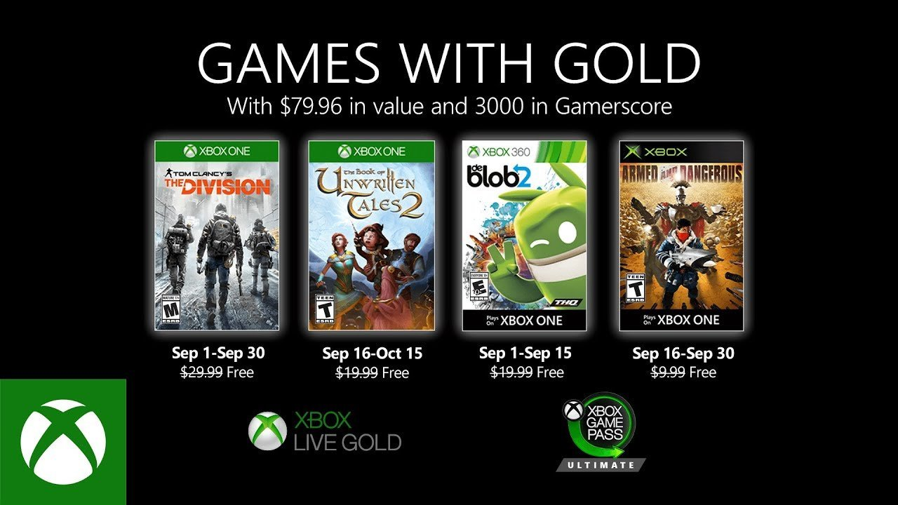 Games With Gold para setembro de 2020