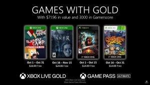 Games com Gold em Outubro de 2020