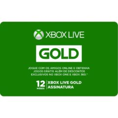 Gift Card Digital Xbox Live Gold 12 Meses