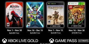 Jogos grátis de novembro no Games with Gold para membros Live Gold