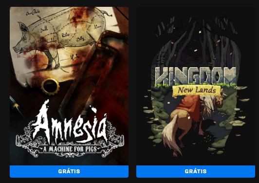 Amnesia: A Machine for Pigs e Kingdom New Lands grátis na Epic Games