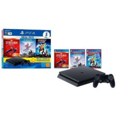 Console PlayStation 4 MEGAPACK V15 1TB + Controle Dualchock 4 + 3 Jogos + PS Plus 3 Meses