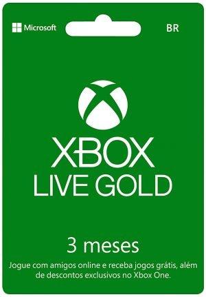 Microsoft Xbox Live Gold - 3 Meses - Cartão Físico