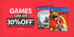 Cupom 30% OFF em Games Exclusivo Submarino na Black Friday