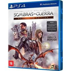 Jogo Sombras Da Guerra Definitive Edition - PS4