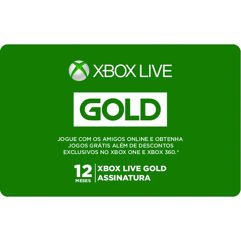 Gift Card Assinatura Xbox Live Gold - 12 Meses