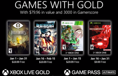 Revelados os Games with Gold de Janeiro de 2021