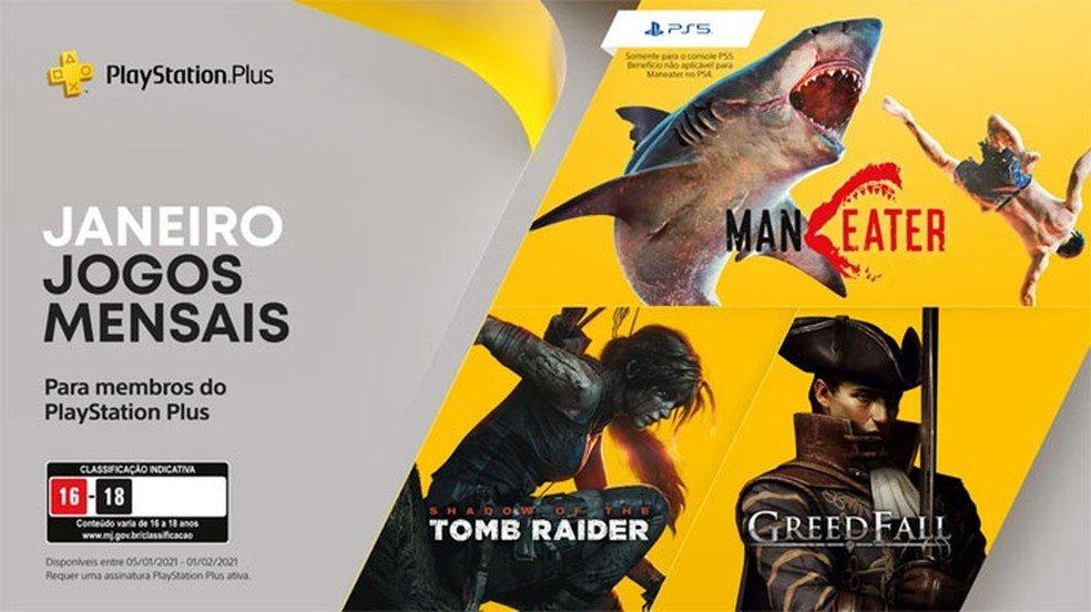 Jogos grátis de janeiro na PlayStation Plus