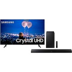 Samsung Smart TV 65 Crystal UHD 4K + Soundbar Samsung Hw-t555 2.1 Canais Subwoofer