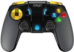 Controle Gamer Ipega KKmoon PG-9118 Gamepad sem fio 3 em 1 + joystick + suporte telescópico BT