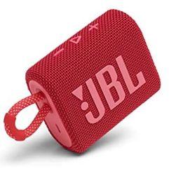 Caixa de Som Portátil JBL Harman GO3 com Bluetooth 5.1 - Vermelha