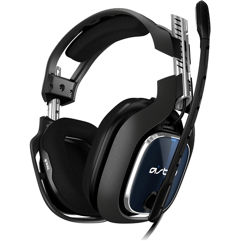 Headset Astro Gaming A40 TR para PS4, PC, Mac - Preto/Azul, Único
