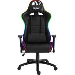 Cadeira Gamer Coral Snake Gaming Reclinável RGB - LED, Preto com LED