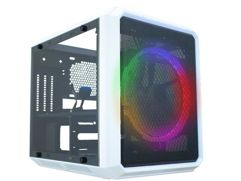 Gabinete Gamer K-Mex Microcraft VI CG-06RC - RGB 1 FAN Branco