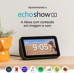 """Echo Show 5 - Smart Speaker com tela de 5,5"""" e Alexa - Cor Preta"""