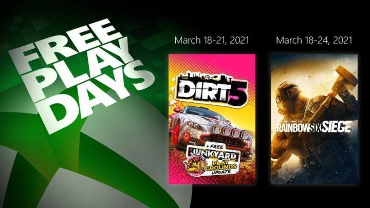 free play days xbox março 2021