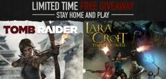 Sorteio de pacote de jogos Lara Croft para PC