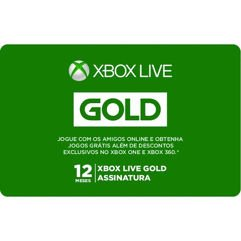 Gift Card Digital Assinatura Xbox Live - 12 Meses