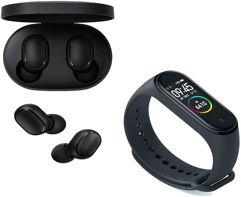 Combo Fone Sem Fio Xiaomi Redmi Airdots + Smartwatch Xiaomi Mi Band 4