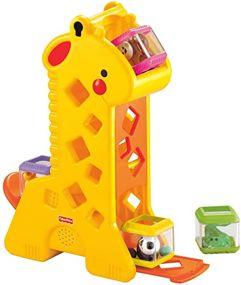 Brinquedo Girafa Pick a Block, Fisher Price, Mattel