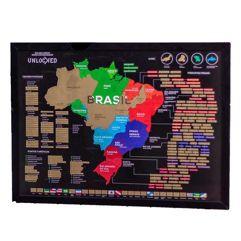 Mapa do Brasil de Raspar 82x60cm