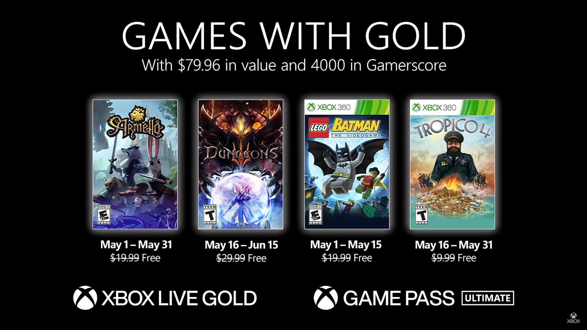Games with Gold de Maio de 2021: conheça os jogos