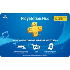 Assinatura Playstation Plus - 12 Meses