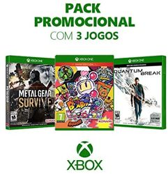 Box Games de Xbox One: Metal Gear Survive + Super Bomberman R + Quantum Break