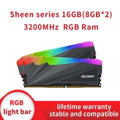 Memória RAM 16GB RAM (2x8GB) DDR4 RGB 3200MHz