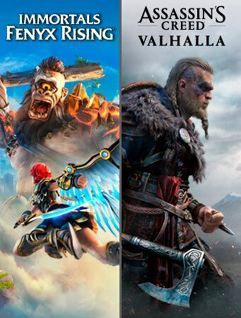 Pacote Assassin's Creed Valhalla + Immortals Fenyx Rising - Xbox One - Digital
