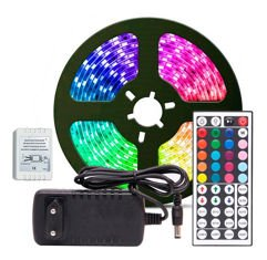 Fita de LED RGB 5050 Rolo 5 metros e Controle Remoto