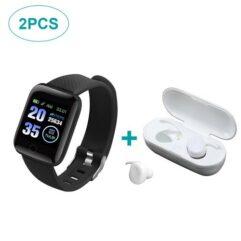 Kit Fone de Ouvido Bluetooth Y30 + Smartwatch 116 Plus