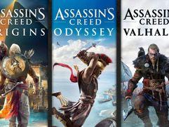 Pacote Assassins Creed: Valhalla, Odyssey e Origins - Xbox One