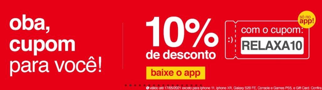 cupom americanas relaxa10 app