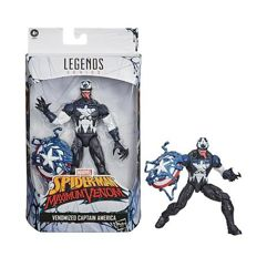 Action Figure Venomized Capitão América Marvel Legends Series - Hasbro