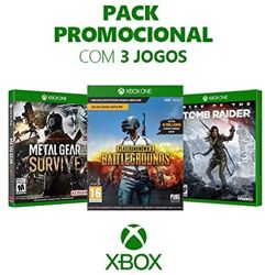 Combo com Metal Gear Survive + Playerunknown's Battlegrounds + Rise Of The Tomb Raider - Xbox One