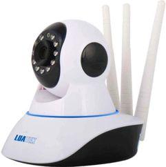 Camera IP Sem Fio 360° 3 Antenas HD Visão Noturna Alarme - Luatek