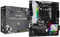 Placa Mãe AM4/USB 3.1/Type-C/Displayport ASRock B450M Steel Legend