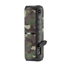 Caixa de Som Portátil Pulse Wave 2 com Bluetooth Camuflada