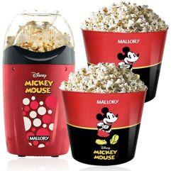 Pipoqueira_Elétrica Disney Mickey Mallory + 2 Baldes Pipoca
