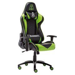 Cadeira_Gamer Veda Terra Elements - Verde/Preto