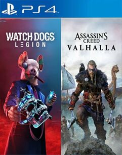 Pacote Assassin's Creed Valhalla + Watch Dogs: Legion - PS4