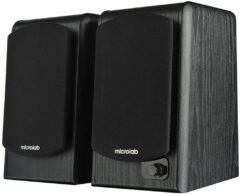 Caixa de Som 2 Bluetooth B77 BT 64W RMS, Microlab Para Smartphones, Tablets, Aparelhos de Som com Saída 3.5 mm P2, Preto