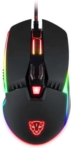 Mouse V20 RGB Gamer com Macro, Motospeed