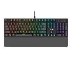 Teclado_Mecânico Gamer AOC GK500 Outemu Switch Blue