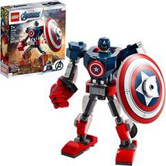LEGO_Marvel Avengers: Armadura Robô do Capitão América 121 Peças - 76168