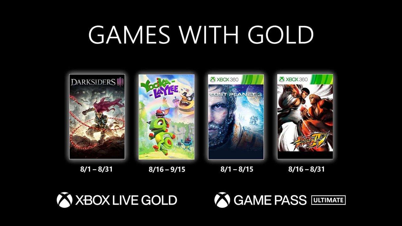 Games with Gold Agosto de 2021: conheça os jogos