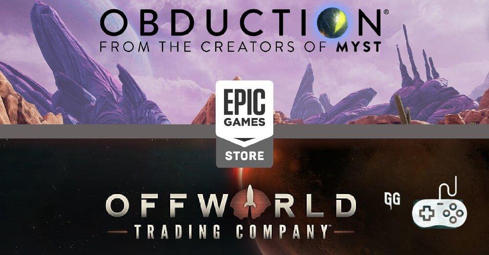 Jogos Grátis Epic Games (15/07): Obduction e Offworld Trading Company