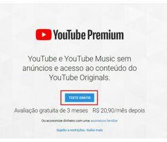 Teste_YouTube Premium Grátis por 3 Meses