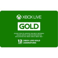 Gift_Card Digital Xbox Live Gold - 12 meses